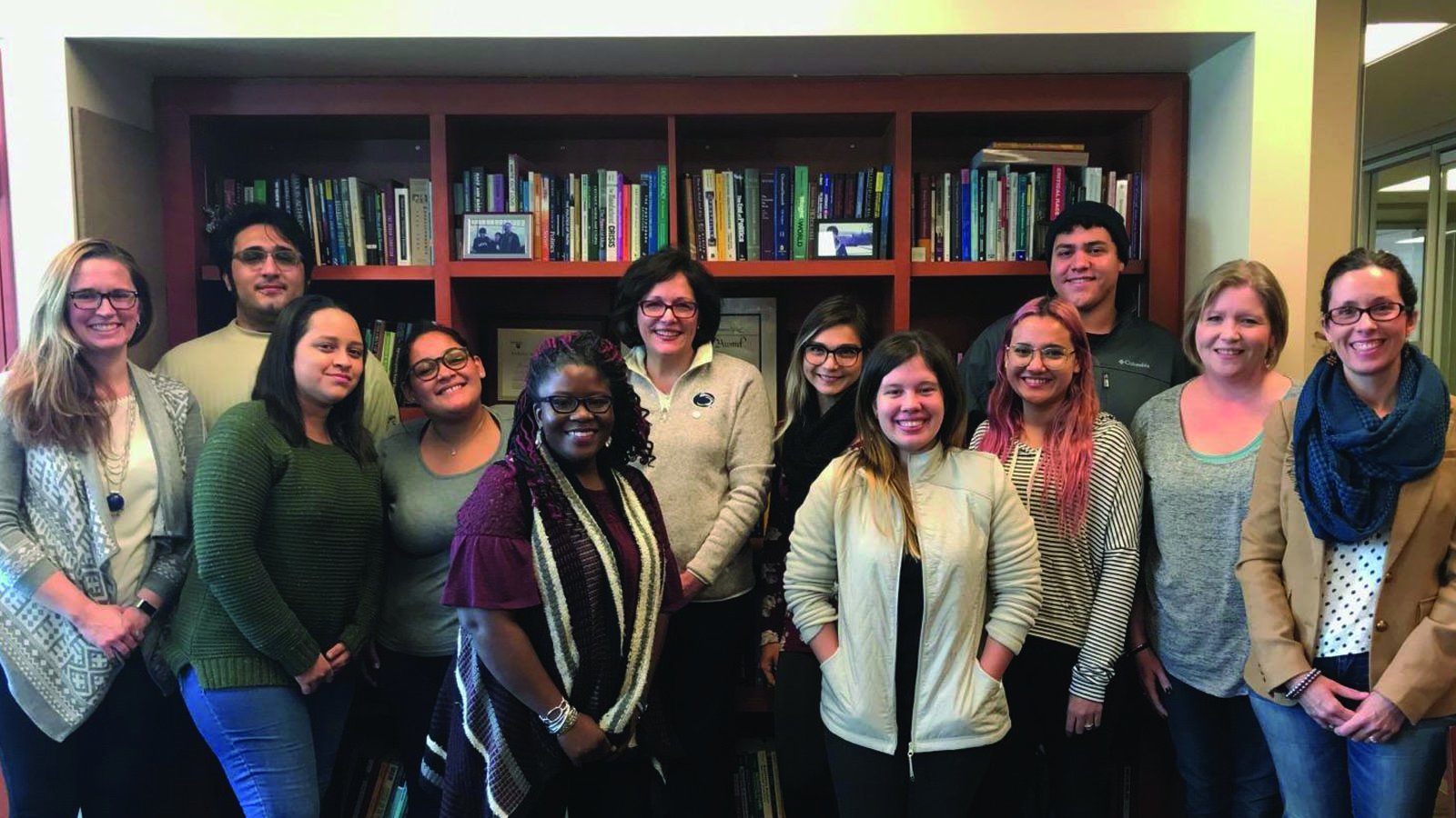 Students from UPR-M welcomed to Penn State Greater Allegheny by staff and the chancellor.