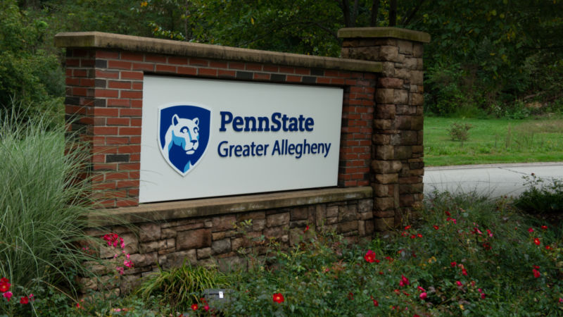 Penn State Greater Allegheny Marquee sign
