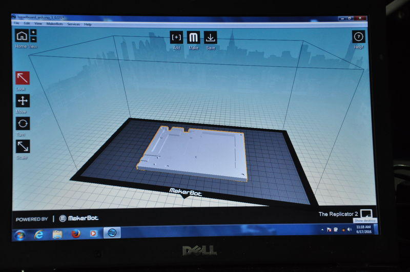 3-D printer screen