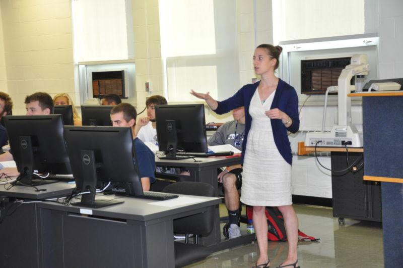 female teaching