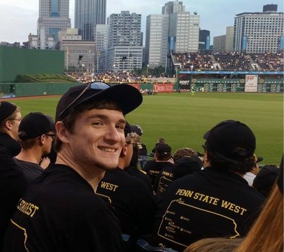 student at Pittsburgh Pirates game