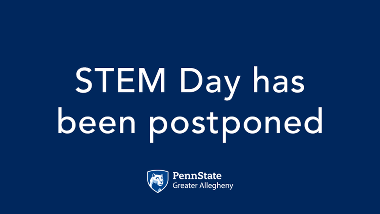Text - Stem Day has been postponed. Greater Allegheny Logo