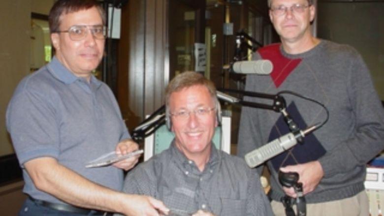 inside the radio station