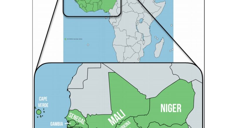 West Africa Map Today