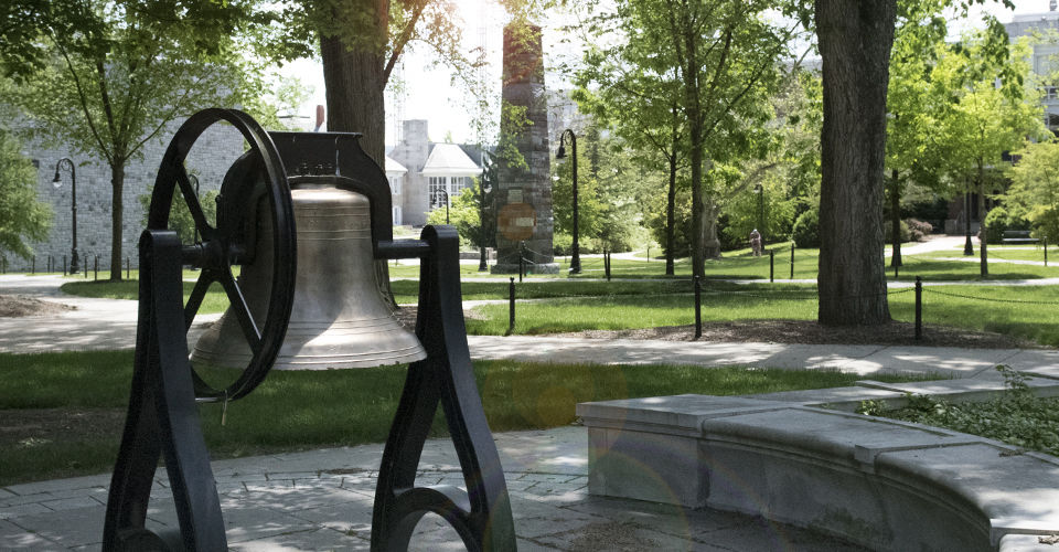Old Main Bell Looking Toward The Mall